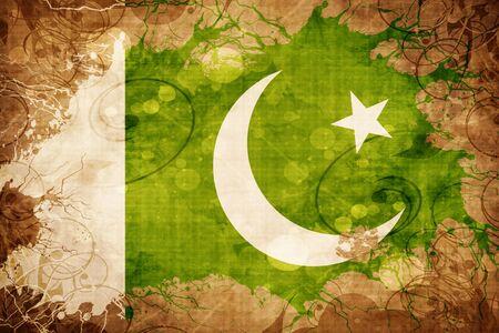 Grunge vintage Pakistan flag