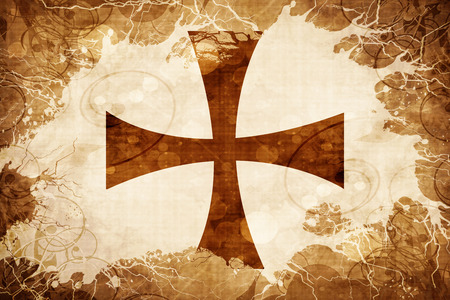teutonic: Vintage Teutonic knights flag
