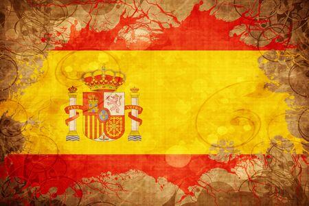 spanish flag: Grunge vintage Spanish flag