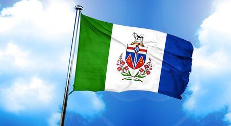 yukon territory: Yukon territory flag, 3D rendering Stock Photo