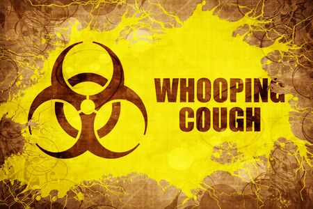 whooping: Grunge vintage Whooping cough