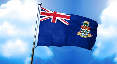 cayman: Cayman islands flag, 3D rendering