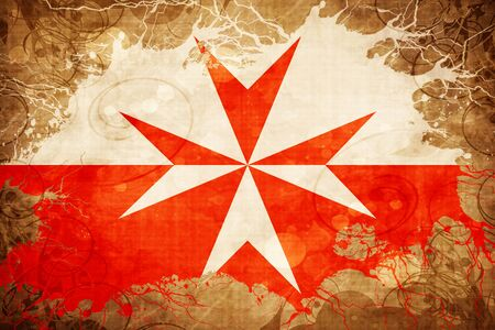 Vintage Malta Knights Symbol Flag Stock Photo Picture And Royalty