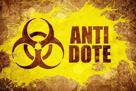 antidote: Grunge vintage Antidote Stock Photo
