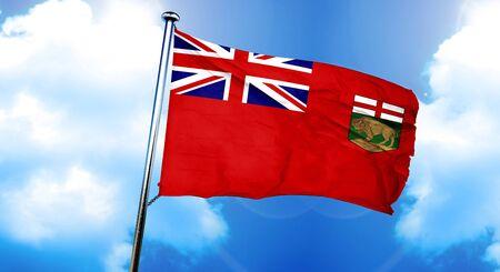 Manitoba flag, 3D rendering Stock Photo