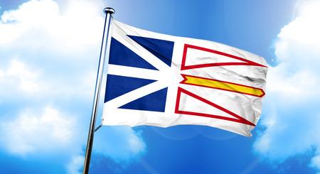 newfoundland: Newfoundland and labrador flag, 3D rendering