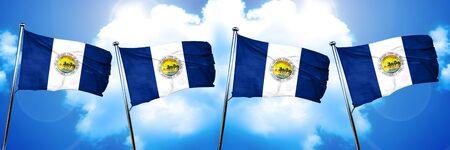toledo: Toledo flag, 3D rendering
