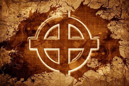pagan cross: Grunge vintage Celtic cross