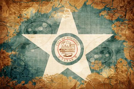 houston flag: Vintage Houston flag