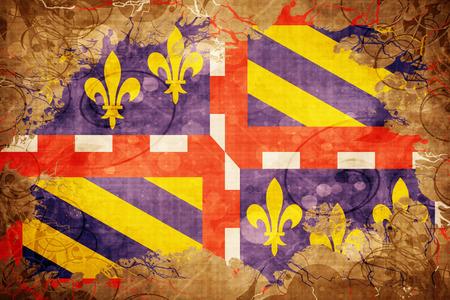 bourgogne: Vintage bourgogne flag