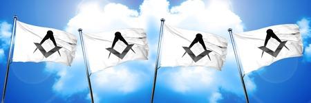 guild: freemason sign flag, 3D rendering