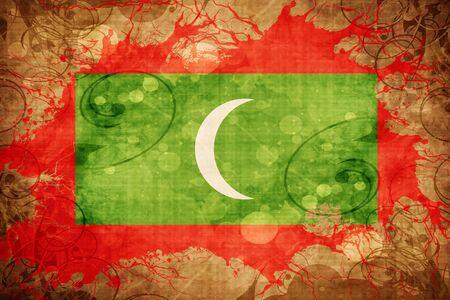 Grunge vintage Maldives flag Stock Photo