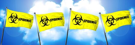 epidemic: Epidemic flag, 3D rendering Stock Photo
