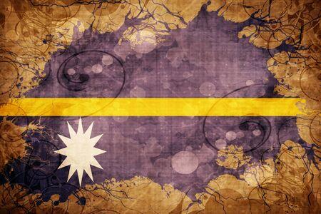 Grunge vintage Nauru flag Stock Photo