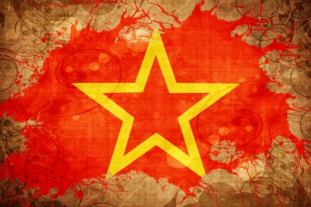 soviet flag: Vintage Red army symbol flag