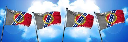 montgomery: Montgomery flag, 3D rendering Stock Photo