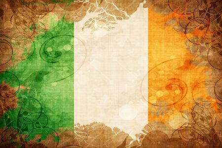 ireland flag: Grunge vintage Ireland flag