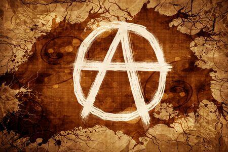 Grunge vintage Anarchy sign Stock Photo