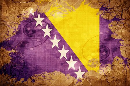 Grunge vintage Bosnia and Herzegovina flag