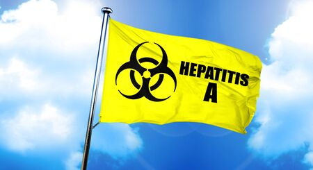 Hepatitis A flag, 3D rendering