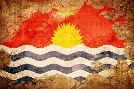 Grunge vintage Kiribati flag Stock Photo