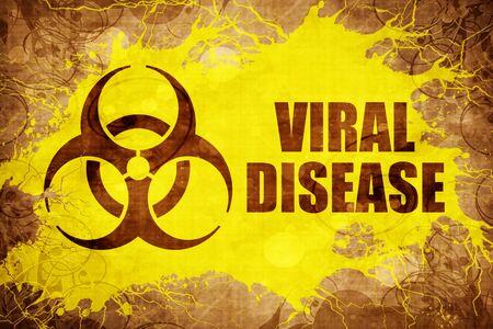 Grunge vintage Viral disease Stock Photo