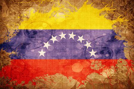 bandera de venezuela: Grunge bandera de Venezuela de la vendimia Foto de archivo