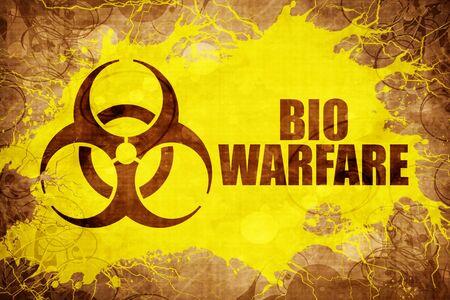 Grunge vintage Bio warfare Stock Photo