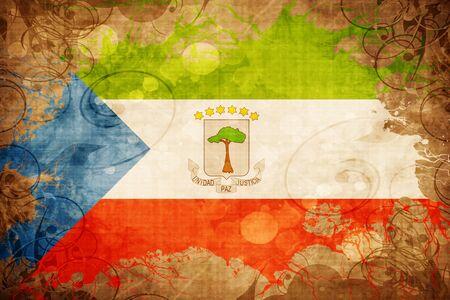 Grunge vintage Equatorial guinea flag