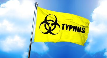 typhus: Typhus flag, 3D rendering