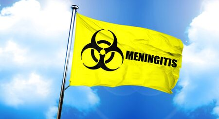 Meningitis flag, 3D rendering Stock Photo