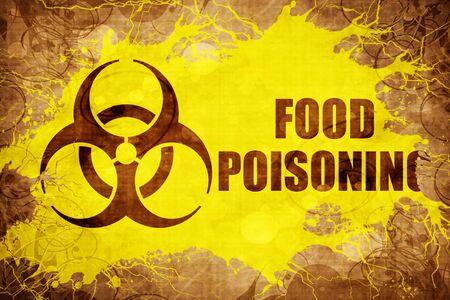 poisoning: Grunge vintage Food poisoning Stock Photo
