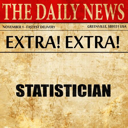 statistician: statistician, newspaper article text