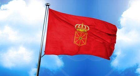 navarre: Navarre flag, 3D rendering