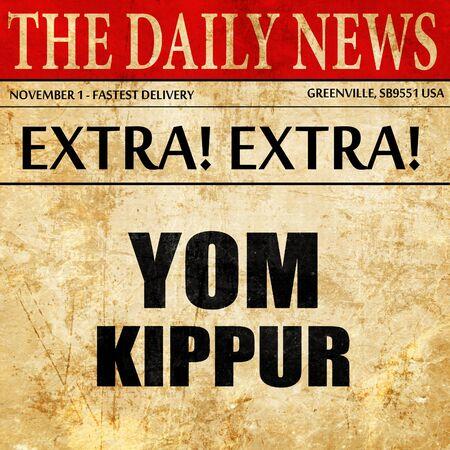 yom kippur: yom kippur, newspaper article text