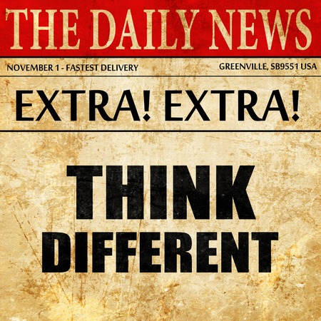 think different, newspaper article text