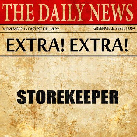stockman: storekeeper, newspaper article text