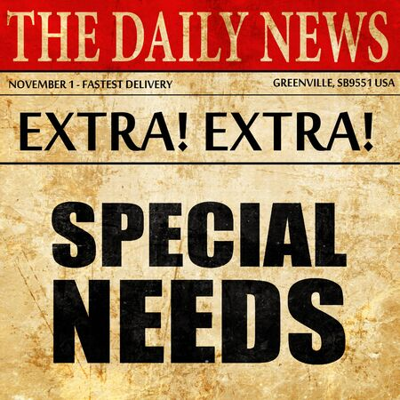 cerebral palsy: special needs, newspaper article text