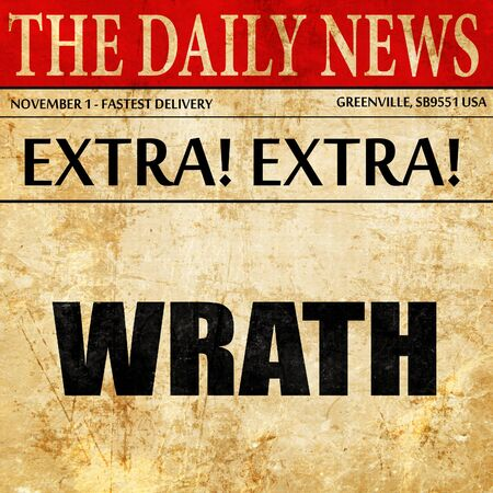 wrath: wrath, newspaper article text
