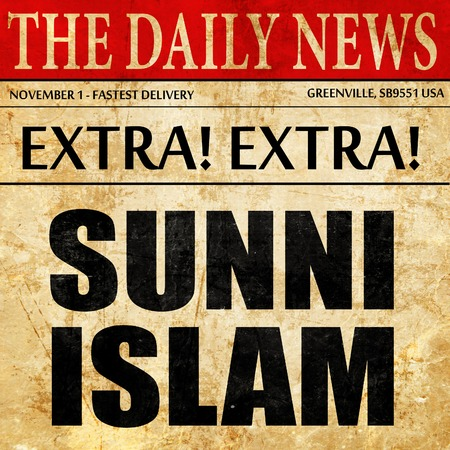 sunni: sunni islam, newspaper article text