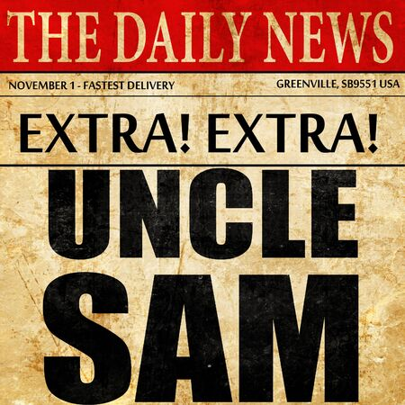 sam: uncle sam, newspaper article text
