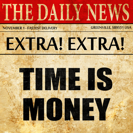 affluence: time is money, newspaper article text