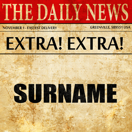 surname: surname, newspaper article text