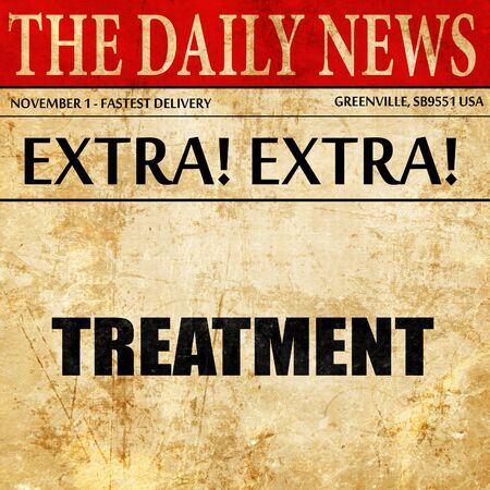 purified: treatment, newspaper article text