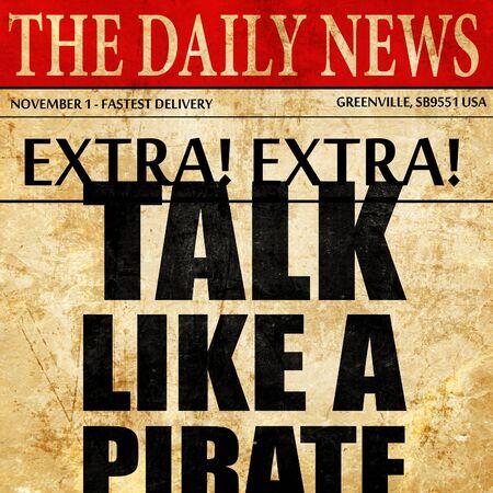 jargon: talk like a pirate, newspaper article text