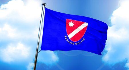 Molise flag, 3D rendering