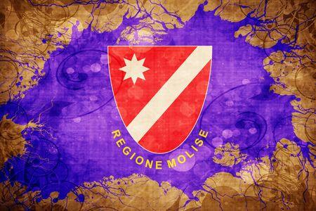 Vintage Molise flag with grunge effect