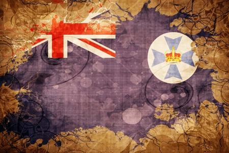 queensland: Vintage Queensland flag with grunge effect Stock Photo