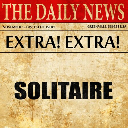 solitaire: solitaire, newspaper article text