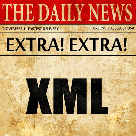 xml: xml, newspaper article text